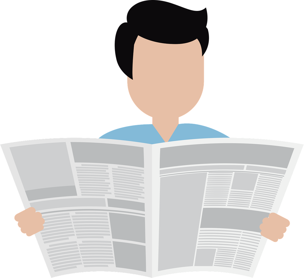 naamsbekendheid vergroten persoon leest krant